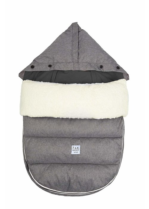 7 AM 7 A.M. LambPOD Heather Grey In Medium/Large 18 Months-3 Toddlers