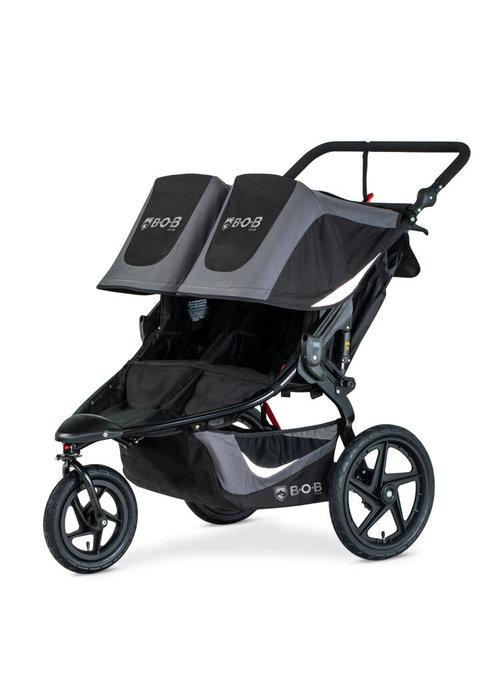 BOB 2020 BOB Revolution Flex 3.0 Duallie Double Jogging Stroller - Graphite Black