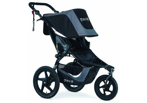 BOB 2020 Bob Revolution Flex 3.0 Single Jogging Stroller Graphite Black