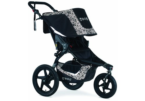 BOB 2020 Bob Revolution Flex 3.0 Single Jogging Stroller Lunar Black