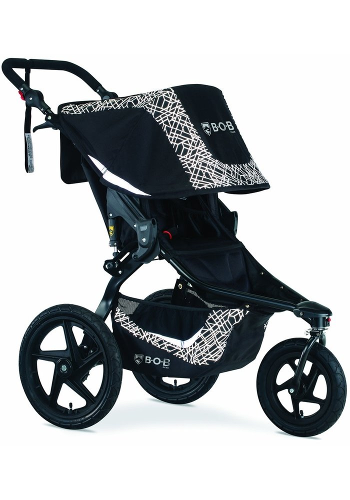 2020 Bob Revolution Flex 3.0 Single Jogging Stroller Lunar Black