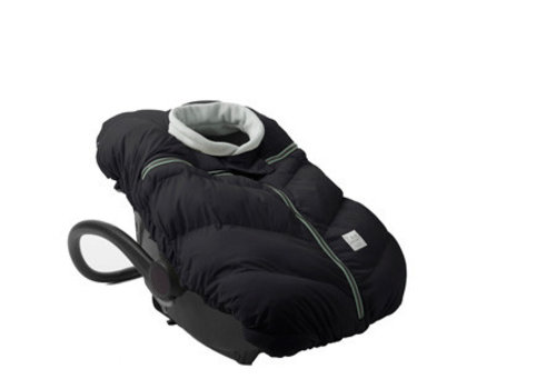 7 AM 7 A.M. Car Seat Cover - Cocoon In Black- 0-12 Months