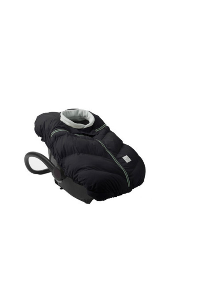 7 A.M. Car Seat Cover - Cocoon In Black- 0-12 Months