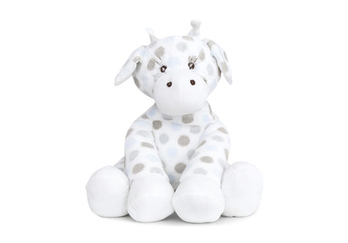 Little Giraffe Little Giraffe Luxe Dot Plush Big Giraffe In Blue