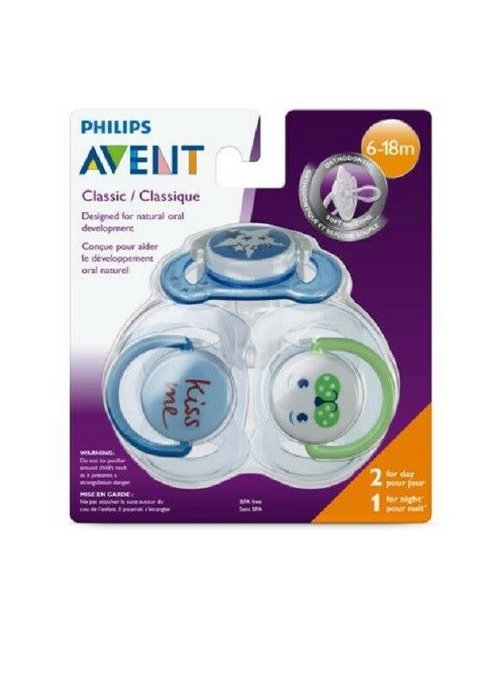 Avent Philips AVENT SCF134/31 3 Piece Classic Value Pack, Blue, 6-18 Months
