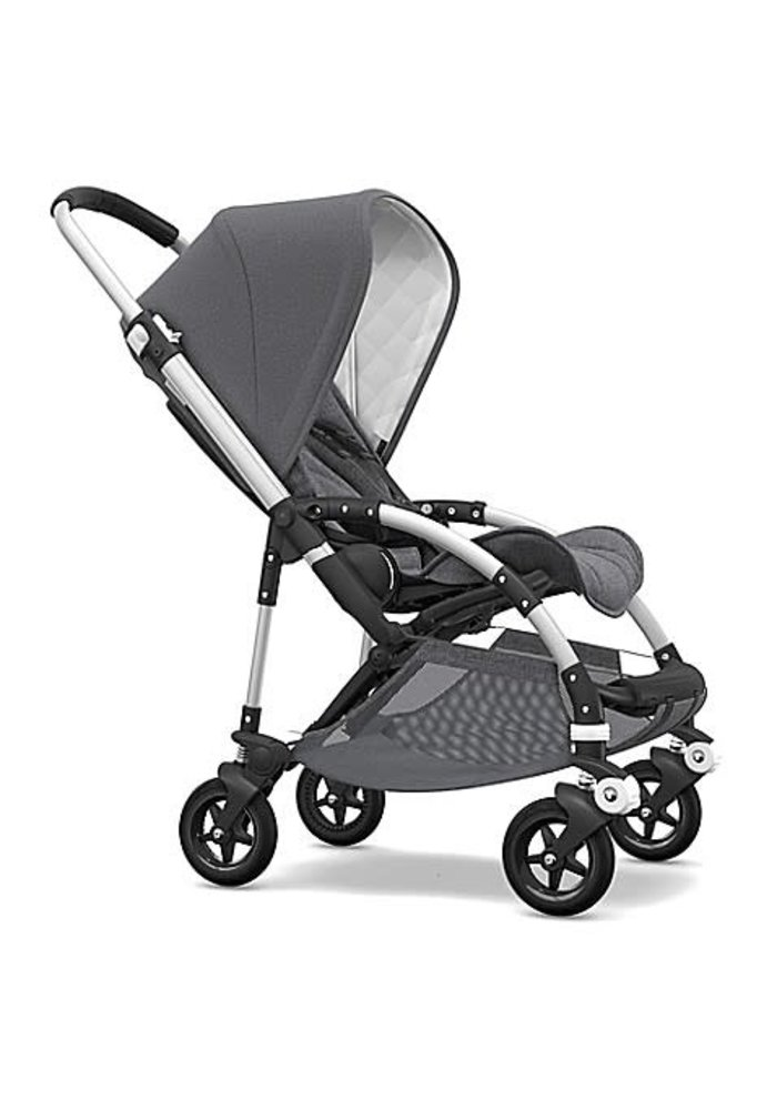 Bugaboo Bee5 Classic  (Quilted) Complete Aluminum/Grey Melange