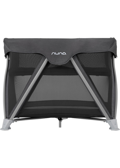 Nuna Nuna Cove Aire Pack and Play Playard Travel Crib With Bassinet In Caviar