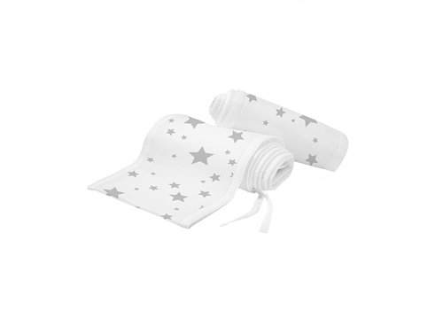 Breathable Baby Breathable Baby Classic Breathable Mesh Crib Liners In Starlight White And Gray