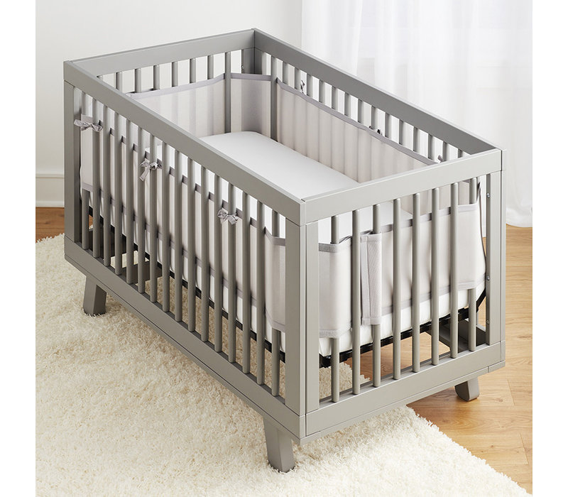 Breathable Baby Breathable Mesh Crib Liners In Gray