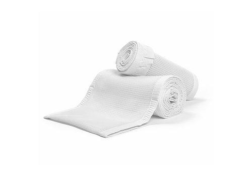 Breathable Baby Breathable Baby Breathable Deluxe Mesh Crib Liners In White Ruffle