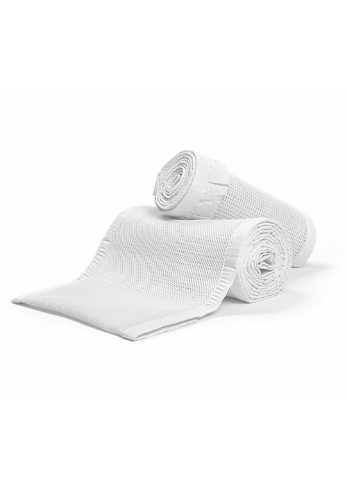 Breathable Baby Breathable Baby Breathable Deluxe Mesh Crib Liners In White Ruffle
