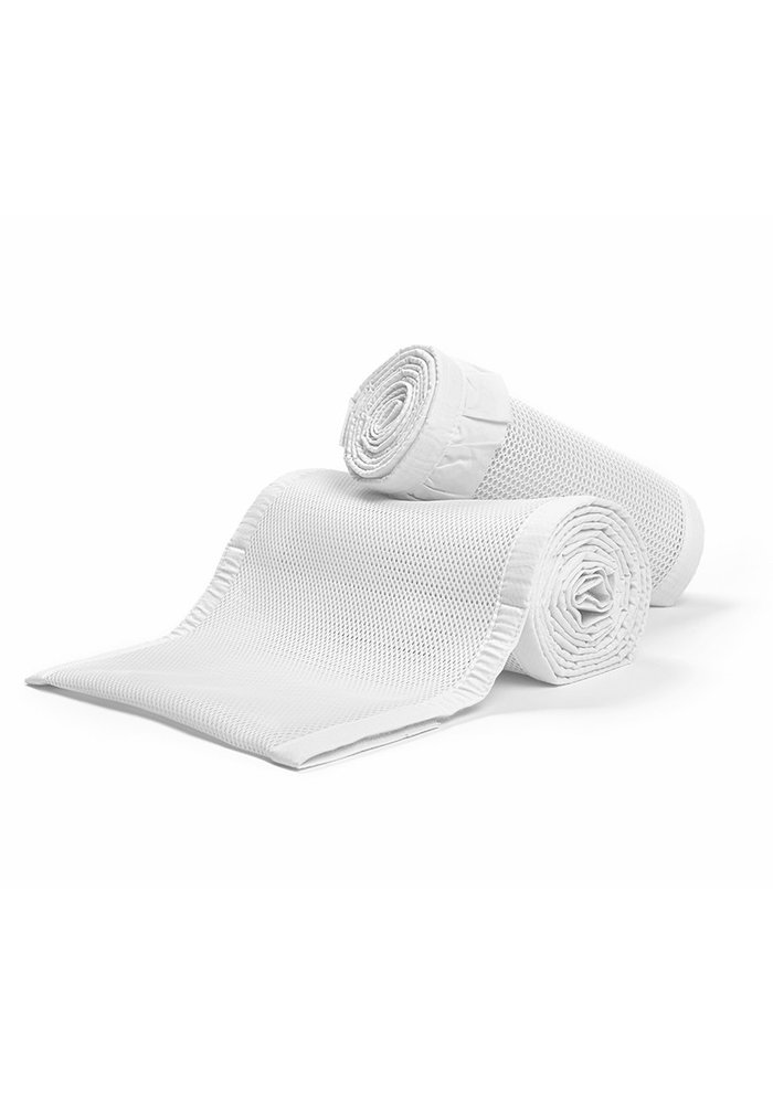 Breathable Baby Breathable Deluxe Mesh Crib Liners In White Ruffle