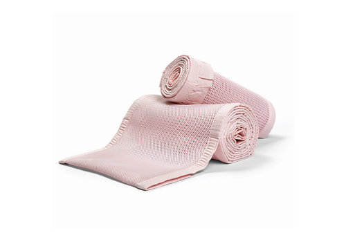 Breathable Baby Breathable Baby Breathable Deluxe Mesh Crib Liners In Blush Ruffle