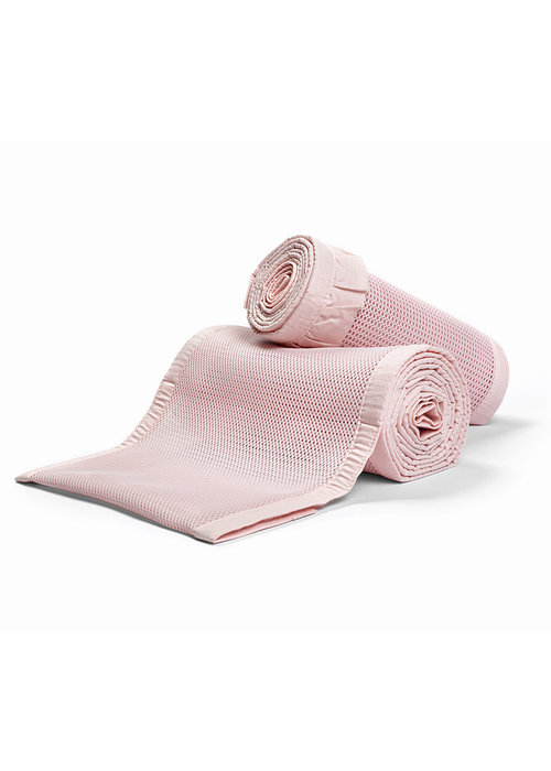 Breathable Baby Breathable Baby Breathable Deluxe Mesh Crib Liners In Blush Ruffle
