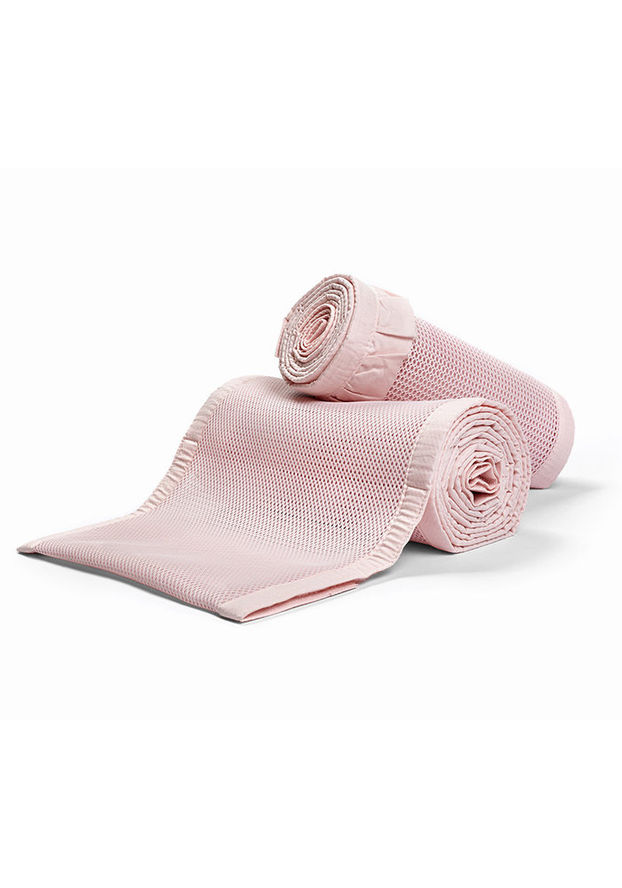 Breathable Baby Breathable Deluxe Mesh Crib Liners In Blush Ruffle