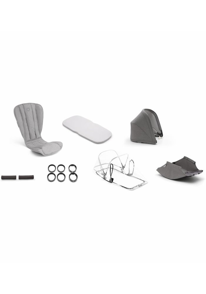Bugaboo Bee5 Mineral Style Set In Light Grey