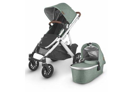 UppaBaby 2020 Uppa Baby Vista V2 Stroller In Emmett (green mélange/silver/saddle leather))