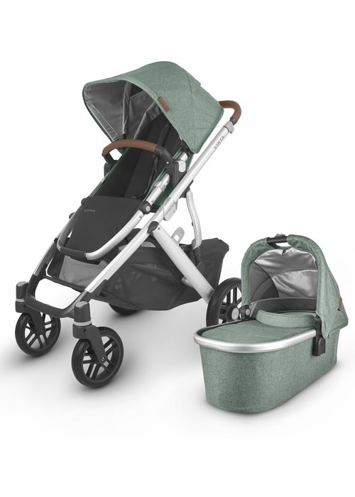 UppaBaby 2020 Uppa Baby Vista V2 Stroller In Emmett (green mélange/silver/saddle leather))