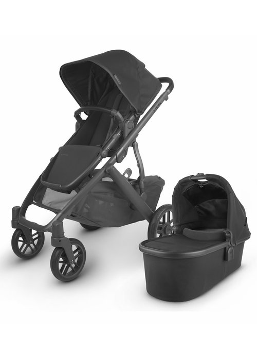 UppaBaby 2020 Uppa Baby Vista V2 Stroller In Jake (black/carbon/black leather)