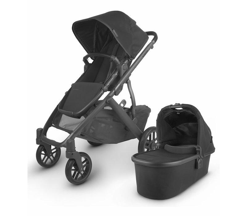 2020 Uppa Baby Vista V2 Stroller In Jake (black/carbon/black leather)