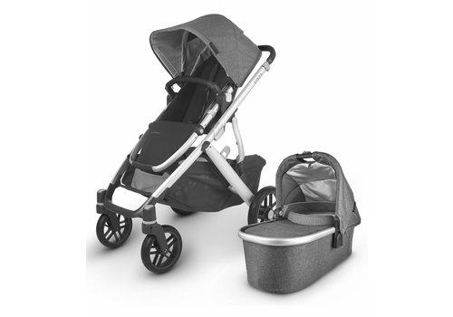 UppaBaby 2020 Uppa Baby Vista V2 Stroller In Jordan (charcoal mélange/silver/black leather)