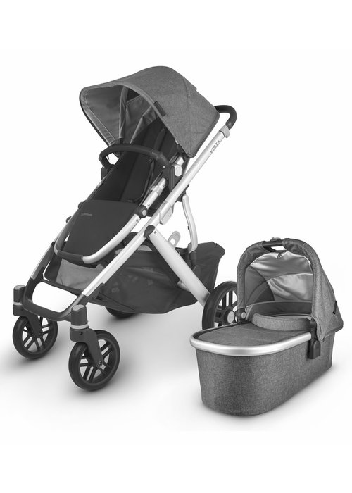 UppaBaby 2020 Uppa Baby Vista V2 Stroller In Jordan (charcoal mélange/silver/black leather)