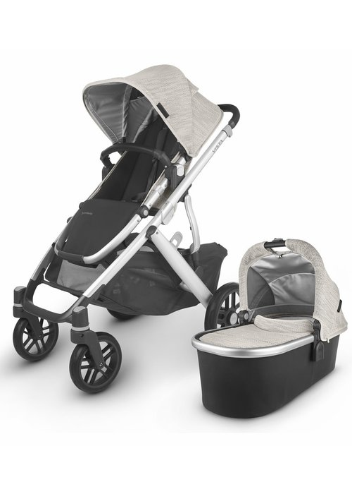 UppaBaby 2020 Uppa Baby Vista V2 Stroller In Sierra (Dune Knit/Silver/Black Leather)