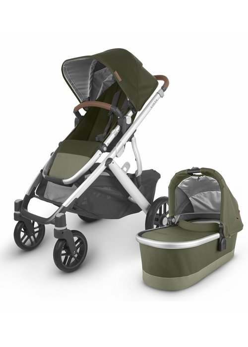 UppaBaby 2020 Uppa Baby Vista V2 Stroller In Hazel (olive/silver/saddle leather)