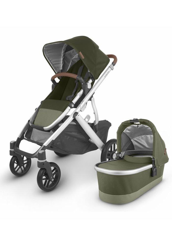2020 Uppa Baby Vista V2 Stroller In Hazel (olive/silver/saddle leather)