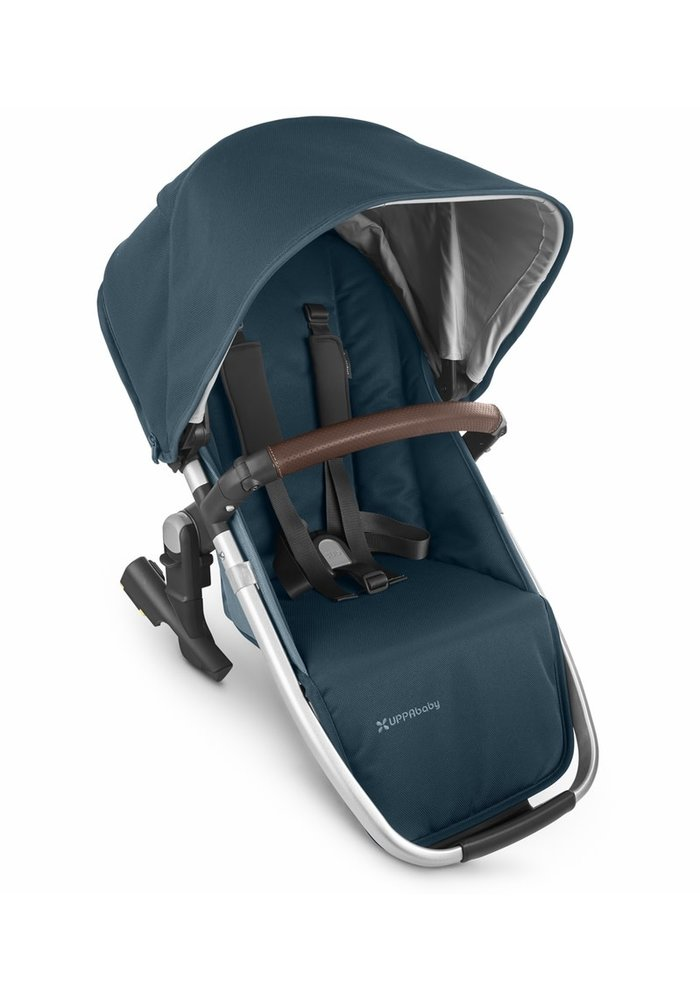 2020 Uppa Baby Vista Rumble Seat V2 (Only) In FINN (deep sea/silver/chestnut leather)