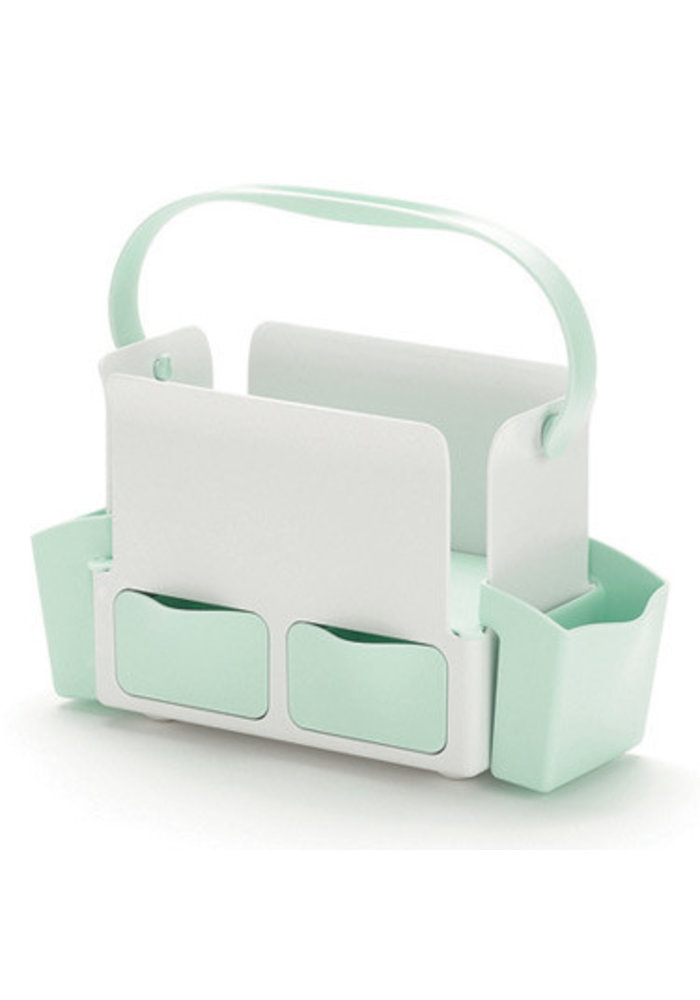 CLOSEOUT!! Skip Hop Toolbox Diaper Caddy In White