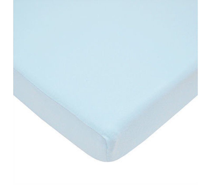 American Baby Knit Porta Crib Sheet In Blue