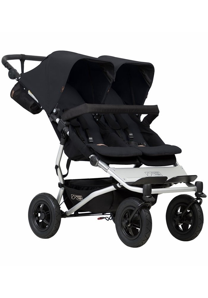Mountain Buggy Duet Double In Black