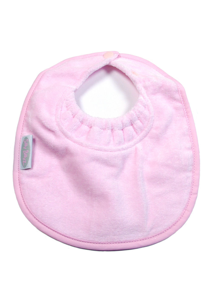 SillY BillyZ Snuggly Toweling Biblet 0-2 Years In Pink
