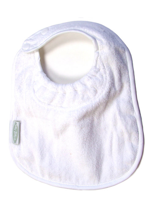 Silly Billyz SillY BillyZ Snuggly Toweling Biblet  0-2 Years In White