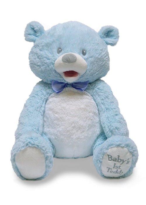 Cuddle Barn Cuddle Barn Animated Baby 1st Singin Teddie Blue