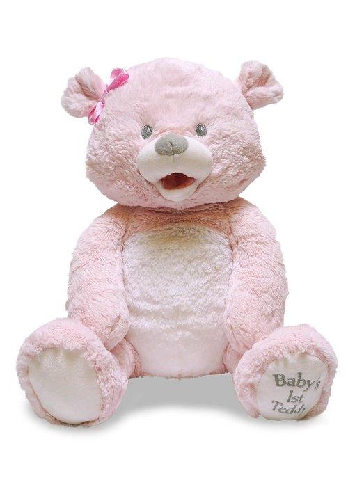 Cuddle Barn Cuddle Barn Animated Baby 1st Lullaby Teddie Pink