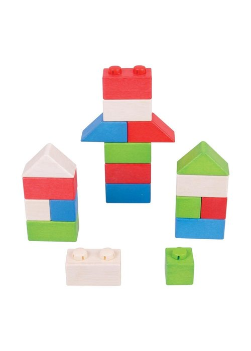 Bigjigs Toys Bigjigs Toys Click Blocks (Primary Basic Pack)