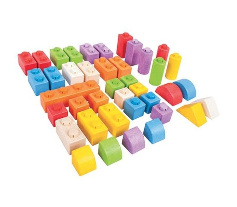 Bigjigs Toys Click Blocks (Intermediate Pack)