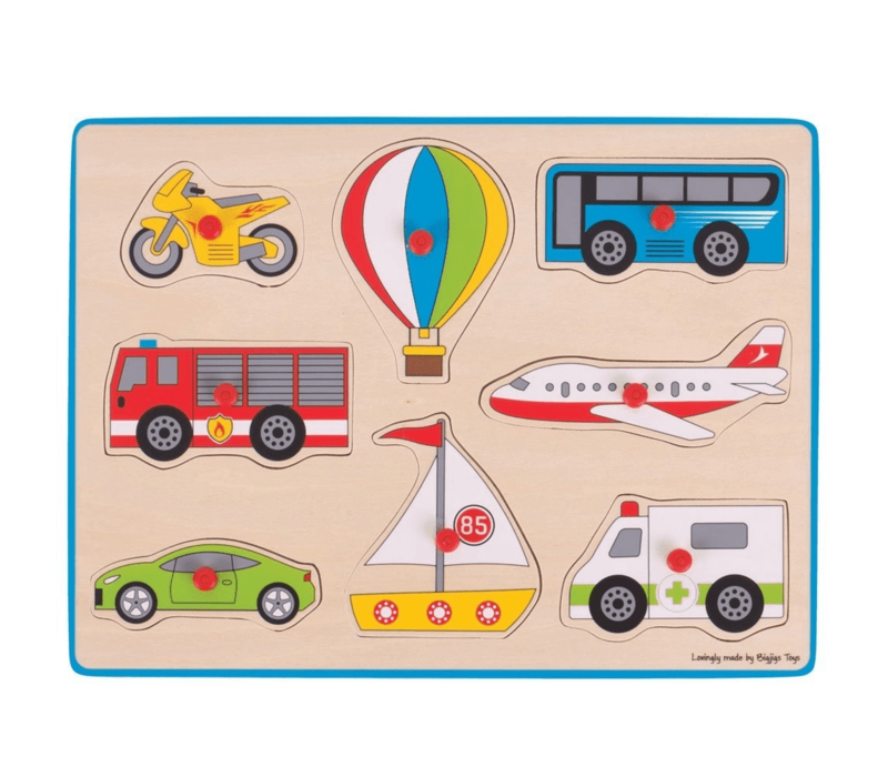 Bigjigs Toys Chunky Lift Out Puzzle - Transport