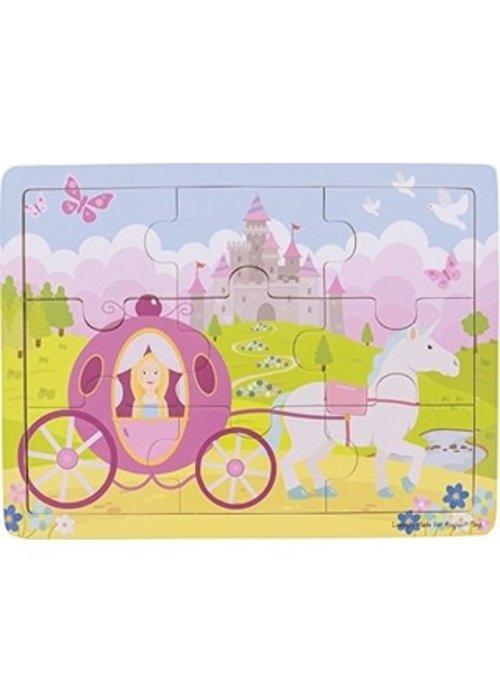 Bigjigs Toys Bigjigs Toys Tray Puzzle - Princess
