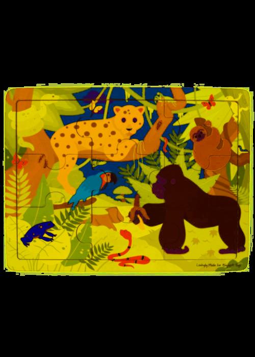 Bigjigs Toys Bigjigs Toys Tray Puzzle - Rainforest