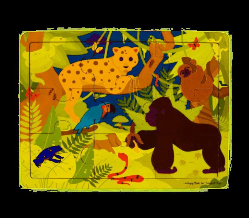Bigjigs Toys Tray Puzzle - Rainforest