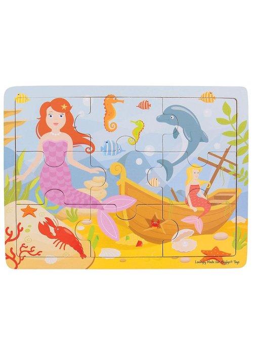 Bigjigs Toys Bigjigs Toys Tray Puzzle - Mermaid