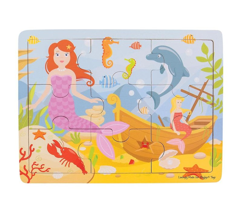 Bigjigs Toys Tray Puzzle - Mermaid