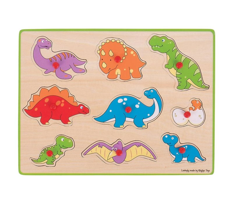 Bigjigs Toys Lift Out Puzzle - Dinosaurs