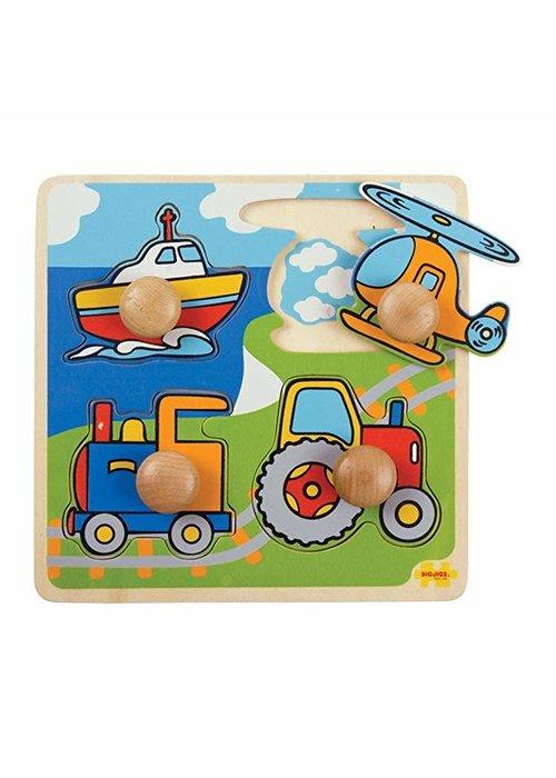 Bigjigs Toys Bigjigs Toys Lift Out Puzzle - Transport