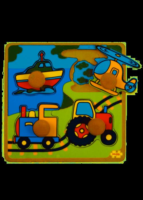 Bigjigs Toys Bigjigs Toys My First Peg Puzzle Transport
