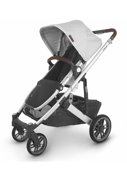UppaBaby Uppa Baby Cruz V2 Stroller In BRYCE (white marl/silver/chestnut leather)