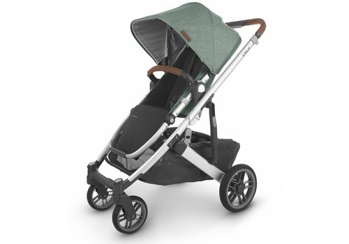 UppaBaby Uppa Baby Cruz V2 Stroller In EMMETT (green mélange/silver/saddle leather)